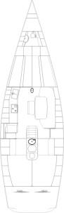 comet 45 layout ineterni 4 cabine